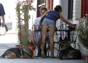 Nikki Reed - booty in shorts at Sun Cafe in Studio City 05/17/12