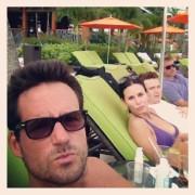 Courteney Cox - wearing a bikini top in the Bahamas 06/27/12 Twitpics