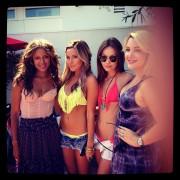 Ashley Tisdale *HQ ADDS* - wearing a bikini top at her Malibu beach birthday party 07/02/12