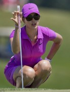 Michelle Wie -Slinky Purple Dress @ 2012 U.S. Women's Open